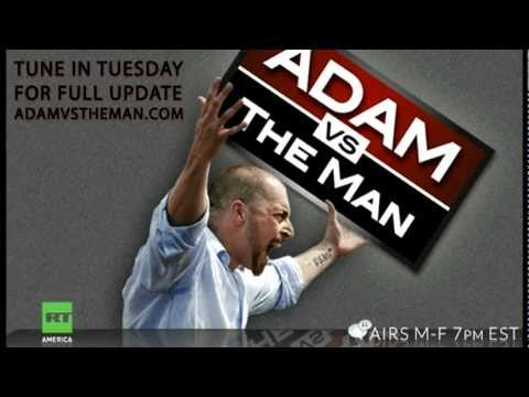 Adam Kokesh body slammed, choked, police brutality at Jefferson Memorial