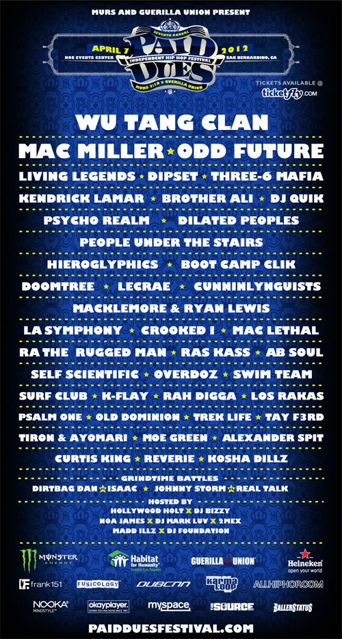 Paid Dues Festival Full LineUp Announced