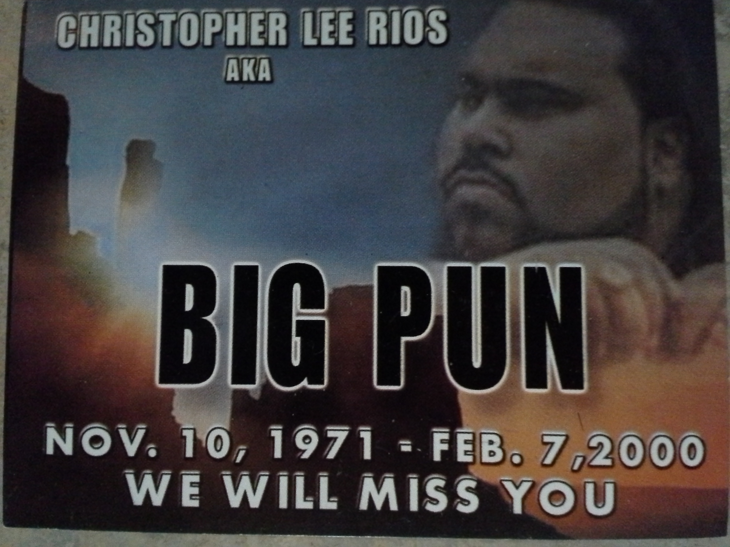 PAST PRINT PREMIERE - BIG PUN WAKE (RIP: Remembered In Perfection)