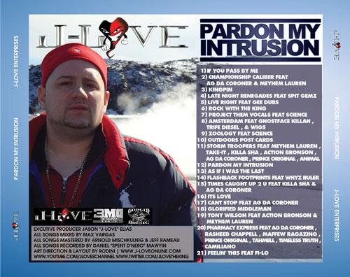 J- Love – Pardon the Intrusion LP Review