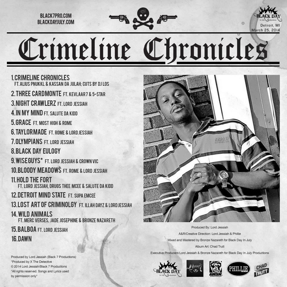 MARCH 25th RELEASE: Lord Jessiah Allah + Phillie (of the Wisemen) - Crimeline Chronicles