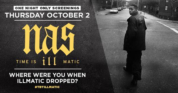 Nas' 'Illmatic' Documentary Will Screen Across The U.S. For 1 Night Only