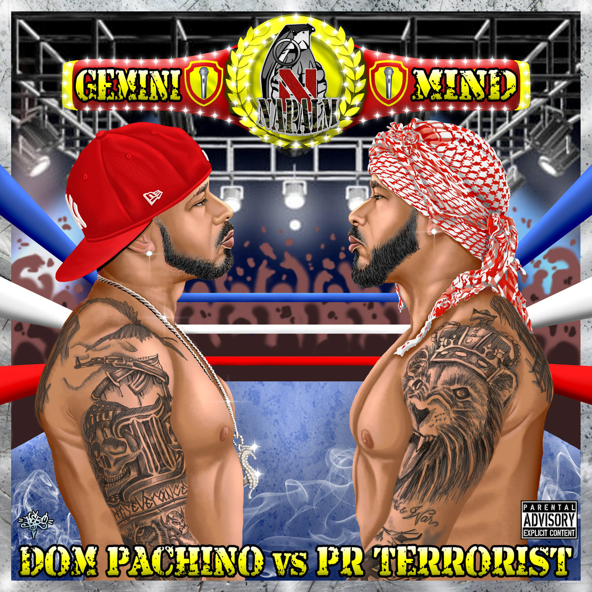 DOM PACHINO –  GEMINI MIND (DOM PACHINO vs P.R. TERRORIST) LP Review