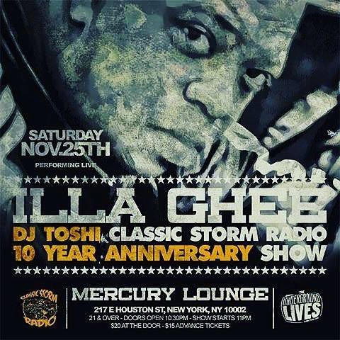 DJ TOSHI'S CLASSIC STORM RADIO 10 YEAR ANNIVERSARY SHOW REVIEW